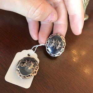 Vintage Jewelry - Siamese Sterling Silver Dance Earring
