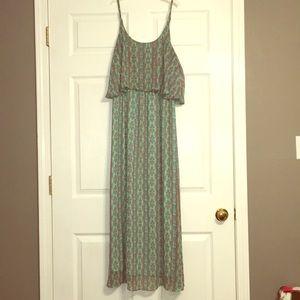 Beautiful, Bright Patterned Maxi Dress