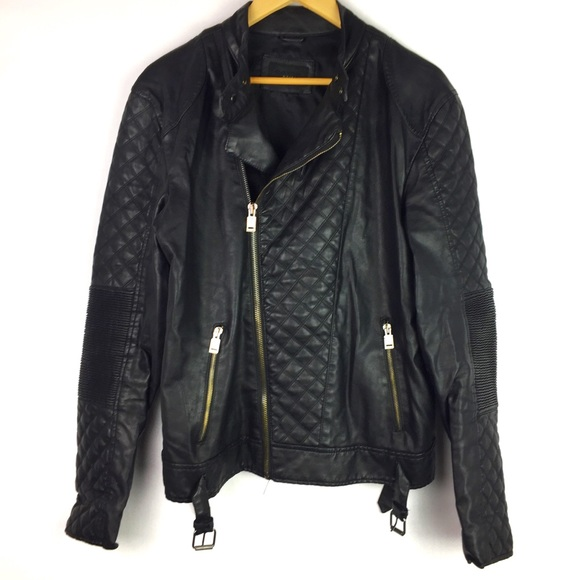 064d44c43 Black Tag Zara Man Quilted Faux Leather Jacket