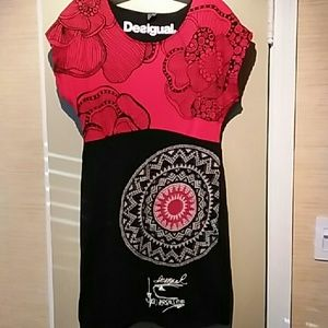 Desigual Cotton Print Dress M