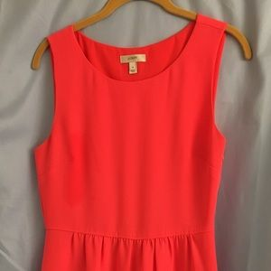 Coral J.Crew cocktail dress. Fits true to size.