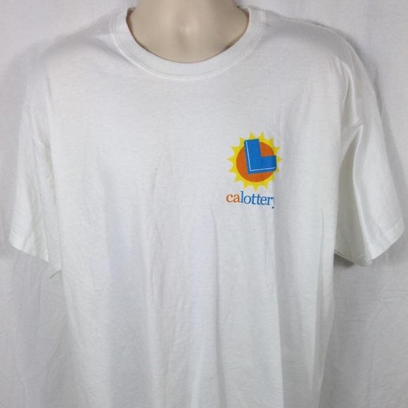 California Lottery Screen-printed Gildan Shirt