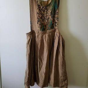 Vintage Lands' End Silk Pinafore Dress