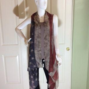 Accessories - USA FLAG VEST/SCARF