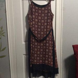Hi low belted Maxi dress