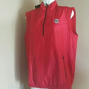 Other - Adidas Red Windbreaker Vest