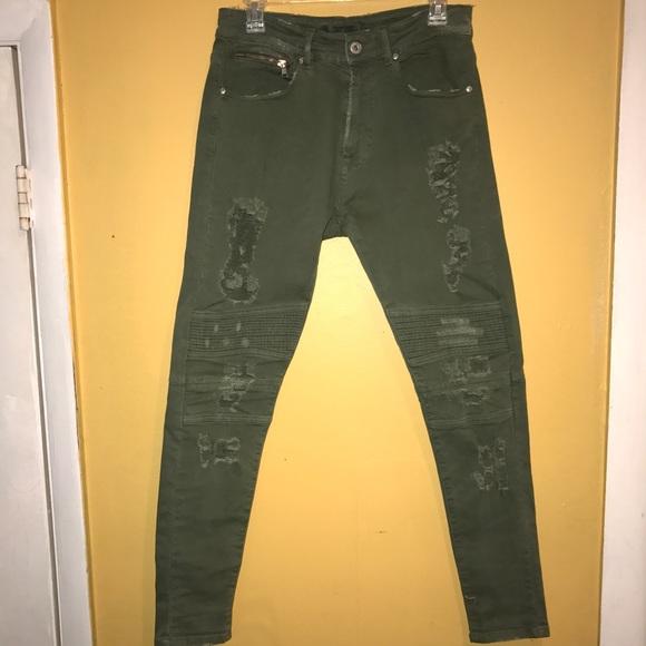 c0ddf8b1 Zara Man Skinny Fit Ripped Biker Jeans USA 31. M_59b876b6fbf6f96107015230