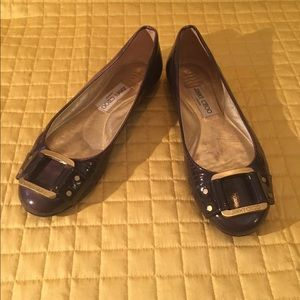 Jimmy Choo patent leather purple flats size 37 1/2