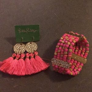 Matching Lilly Pulitzer earrings & bracelet