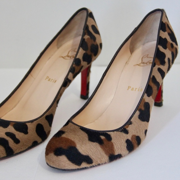 d08ea880454 Christian Louboutin Shoes - Christian Louboutin Leopard Pony Hair Heels-38