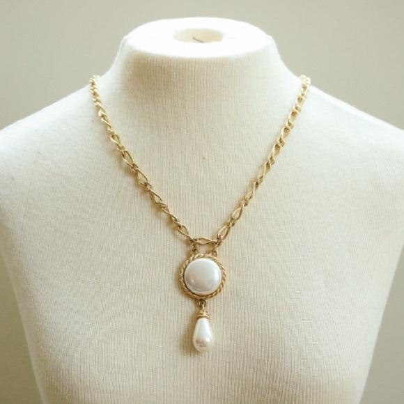 Vintage Jewelry Richelieu Faux Pearl Pendant Necklace Poshmark