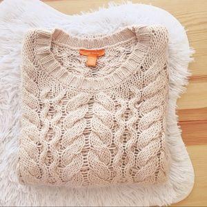 joe fresh blush cable knit chunky sweater