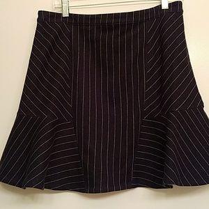 Banana Republic Navy Pinstripe Skirt