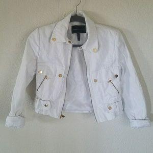 BCBG MAXAZRIA white jean jacket
