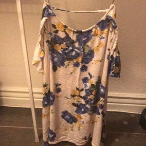Off-the-shoulder Floral Dress