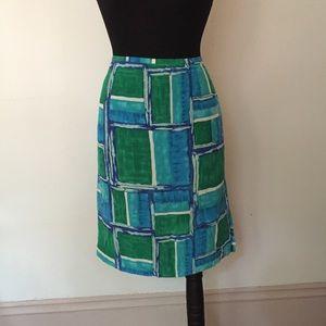 Diane von Furstenberg 100% Silk Skirt Sz L