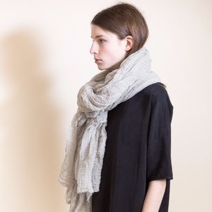 SCARFSHOP Cotton Regular Scarf in Fog