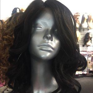 Accessories - Wig Lacefront Swisslace black Deep Wave wig