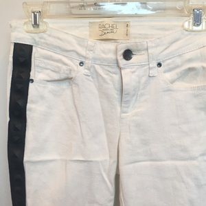 Rachel Roy White Jeans with Black Studs