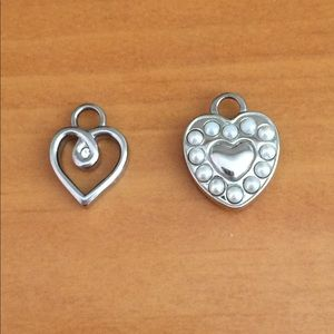 Small heart charms