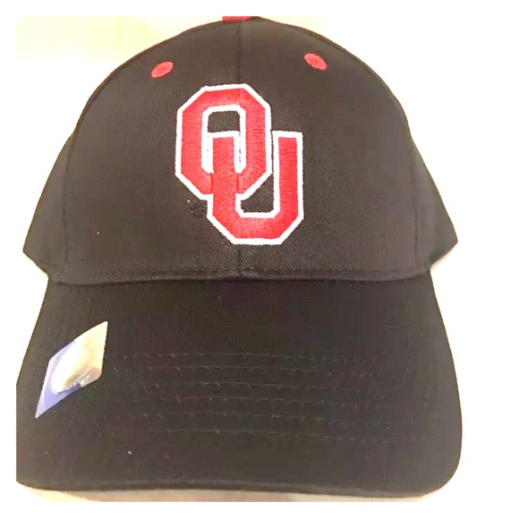 f1453aaf441 Oklahoma Sooners Hat Black And Red OU Adjustable