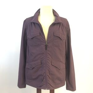 [Eddie Bauer] Travex Travel Jacket Plum Purple Lrg