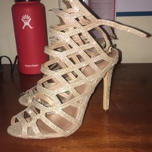 4in Prom/Homecoming Rose-gold Heels