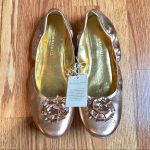 {loeffler randall for target} rose gold flats