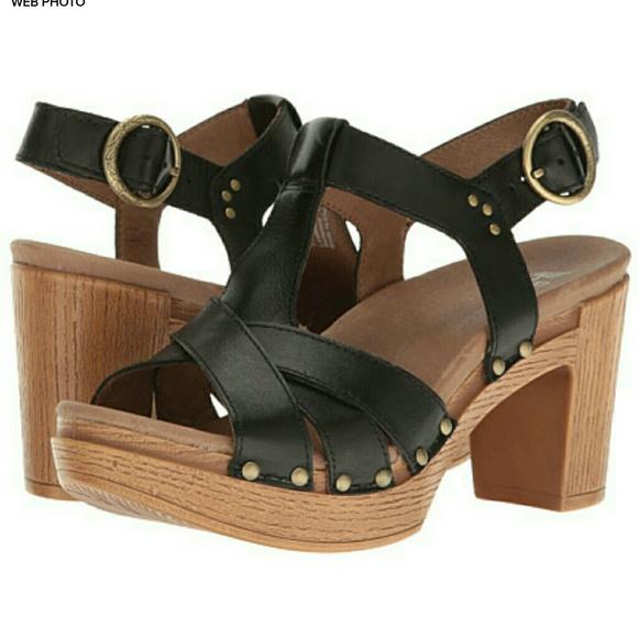 99ee6487cf Dansko Shoes - DANSKO Daniela Leather Strappy Sandal Heel Size 38