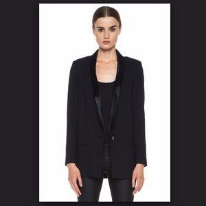 Helmut Lang black blazer w/ leather lapel Sz10/12