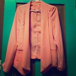 Jackets & Blazers - 2 Cute Blazer cover up/black-tan & pink