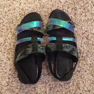 Urban outfitters tropical translucent sandals