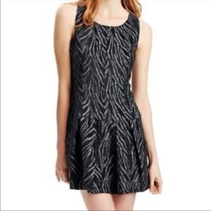 FREE PEOPLE ZEBRA STRIPE VELVET SKATER DRESS