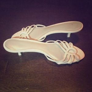Shoes - White heeled sandals. Size 9