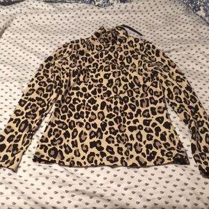 Kate Spade Cheetah Print Turtleneck Size 0
