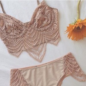 For Love & Lemons blush snapdragon underwear