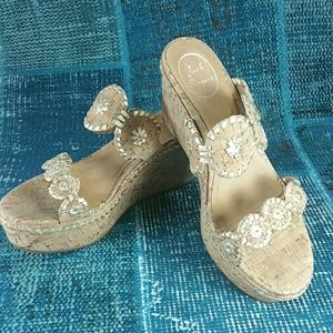 Jack Rogers Leigh Wedges Sz 8.5 in EUC