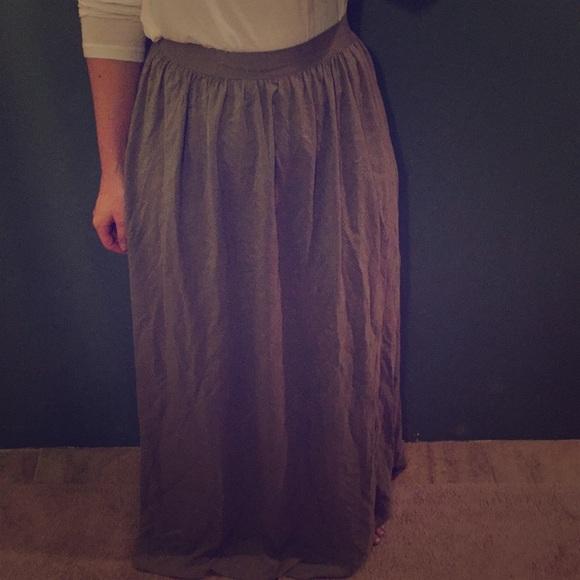 8dcd0aab24 NWT Forever 21 Maxi Skirt
