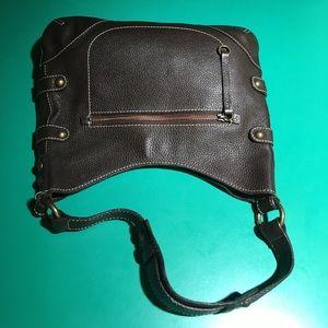 J. Crew Brown Leather Shoulder Handbag