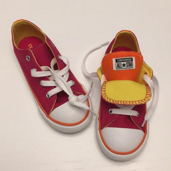2a24aeb97c06 Kids girls Converse pink size 10 shoes NIB