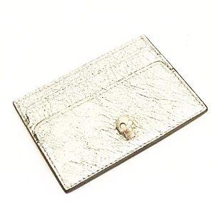Authentic Alexander McQueen Silver Card Holder
