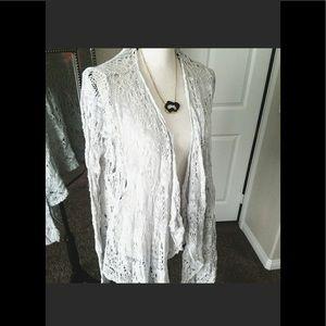 Jackets & Blazers - Boho light gray throw