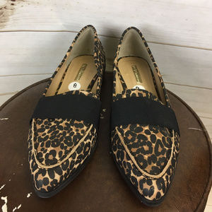 fa194a79e4b BCBGeneration Shoes - Leopard Print Loafer Pointed Toe Elastic Shoes