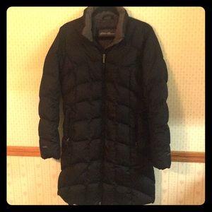 WARM Like New Eddie Bauer Down Winter Coat M Black