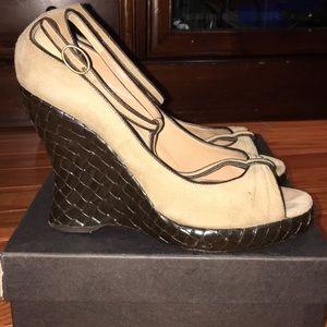 Bottega Veneta woven sandals beige size 37.5