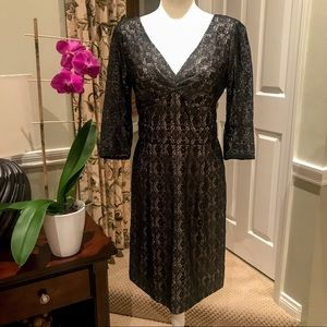 NWT!🔥Marc by Marc Jacobs BLK Metallic Lace Dress