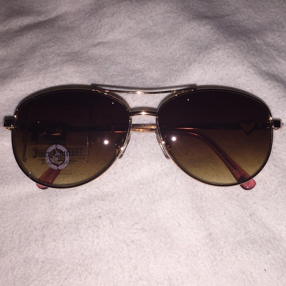 0a9b36da45 Juicy Couture Rose Gold Aviator Sunglasses NWT