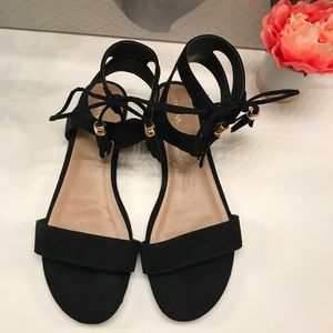 Black ankle Sandals Worn Once