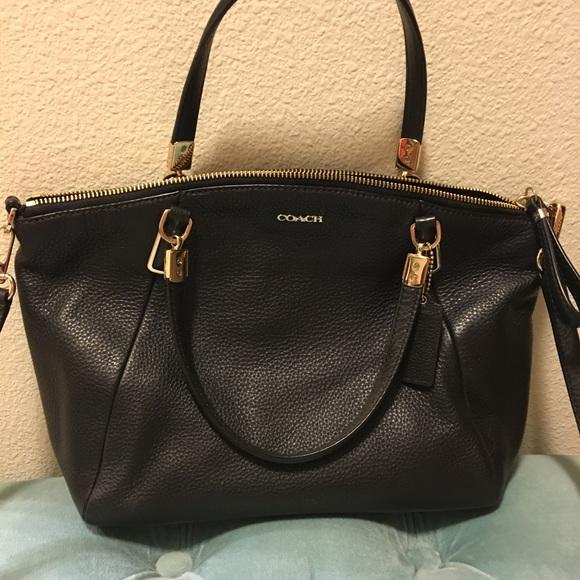 c860a19b823d Coach Handbags - Coach Madison pebbled leather Small Kelsey Satchel