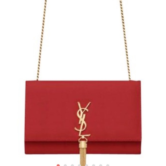 dddf7114d0c6 YSL monogram chain clutch Red Cross body bag. M 59b8a8e86a58300556028575